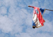 Free Croatian Flag On A Windy Day Stock Photos - 1077983