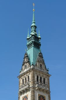Free City Hall Tower, Hamburg Royalty Free Stock Photography - 1078017