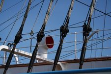 Sailing - Ship S Lines Royalty Free Stock Photography