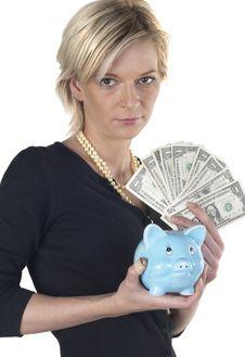 Free Girl Holding Money Royalty Free Stock Photo - 1078915