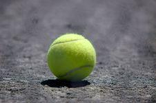 Free Tennis Ball On Ground Stock Photo - 1079420