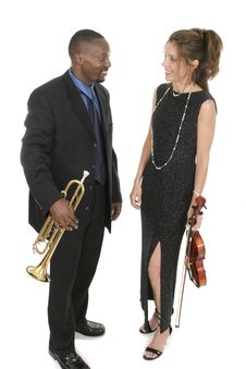 Two Musicians 2 Royalty Free Stock Photos