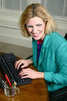 Beautiful Business Woman Laughing And Smiling Royalty Free Stock Photo