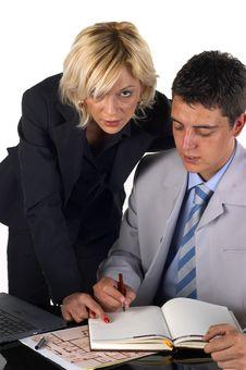 Free Businessman With A Secretary Stock Photos - 1079793