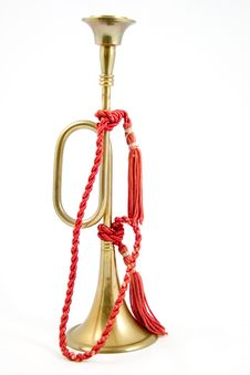 Free Brass Bugle 2 Royalty Free Stock Photography - 1079797