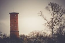 Free Brick Water Tower Retro Stock Image - 107179411