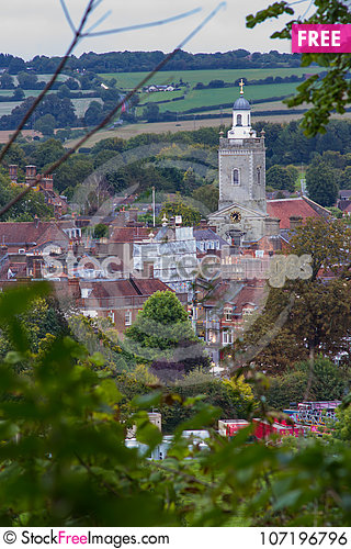 Free Blandford Spire Through The Trees Royalty Free Stock Image - 107196796