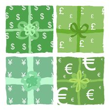 Free Global Commerce: Boxes With Different Currencies Stock Photography - 10732492