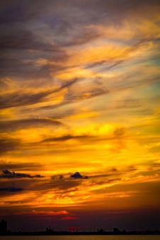 Free Sky, Afterglow, Horizon, Red Sky At Morning Stock Photos - 107374753