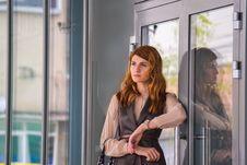 Free Girl, Outerwear, Window, Socialite Royalty Free Stock Image - 107375226