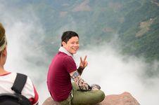 Free Sitting, Mountainous Landforms, Vacation, Sky Royalty Free Stock Images - 107452079