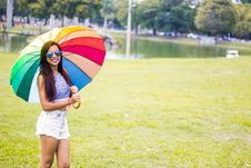 Free Umbrella, Yellow, Pink, Fun Royalty Free Stock Photography - 107452287