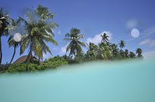 Free Tropical Island With In The Lagoon Stock Images - 10753114