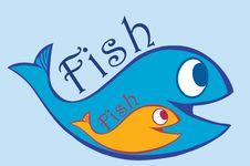 Free Blue And Orange Fish Stock Photos - 10763723