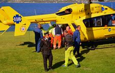 Free Helicopter, Yellow, Aircraft, Helicopter Rotor Stock Photos - 107750703