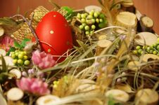 Easter Decor In A Box Stock Photography