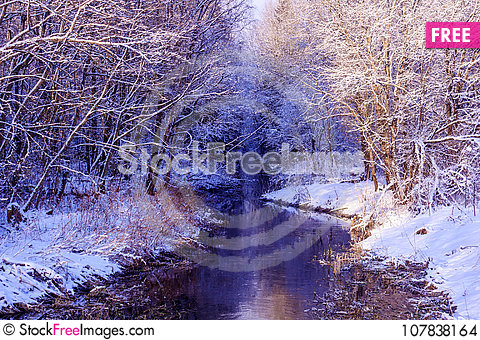Free Winter Frosty Sunny Landscape Stock Images - 107838164