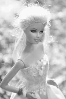 Free Black And White, Doll, Human Hair Color, Beauty Royalty Free Stock Images - 107901059