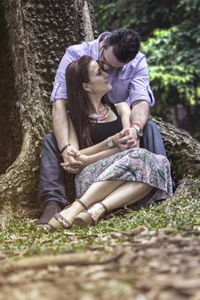 Free Photograph, Sitting, Tree, Emotion Stock Images - 107950844