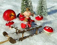 Free Christmas Ornament, Christmas Decoration, Christmas, Snow Stock Images - 107959534