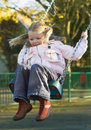 Free Cute Girl On  Swing Royalty Free Stock Images - 1084179