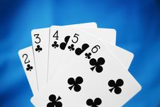 Free Straight Flush Stock Image - 1080101
