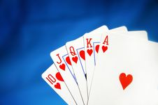 Free Royal Flush Royalty Free Stock Image - 1080106