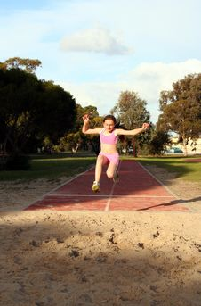 Free Long Jump Royalty Free Stock Image - 1080716