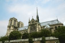 Free Notre Dame - A View From Below, Paris Stock Photo - 1080780