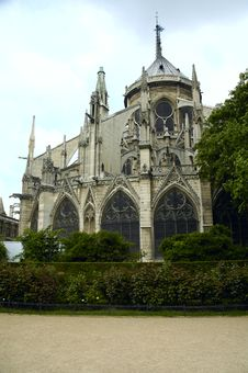 Free Notre Dame Facade, Paris Royalty Free Stock Images - 1080789