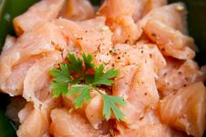 Free Smoked Salmon Dish Stock Images - 1081404