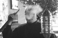 Smoke Man Stock Photography
