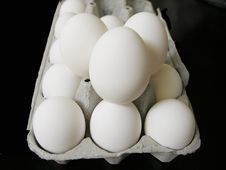 Free White Extra Lage Eggs Stock Image - 1081971