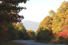 Free Autumn Drive Royalty Free Stock Image - 1082736