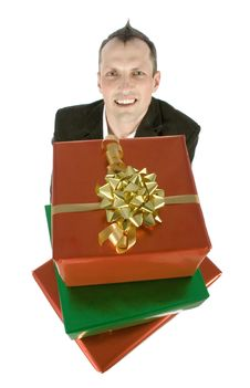 Free Man With Gifts Royalty Free Stock Photography - 1084327