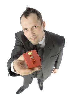 Free Man With Small Gift Stock Photography - 1084352
