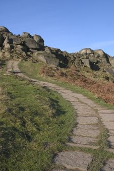 Cow And Calf Rocks, Ilkley Moor, West Yorkshire Royalty Free Stock Photos