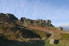 Free Cow And Calf Rocks, Ilkley Moor, West Yorkshire Royalty Free Stock Photo - 1084685