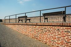 Free Benches In A Row Royalty Free Stock Photography - 1085007