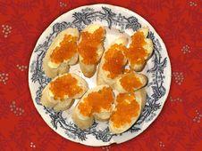 Caviar Plate Stock Photo