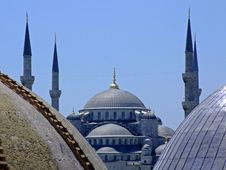 Free Blue Mosque Royalty Free Stock Images - 1085889
