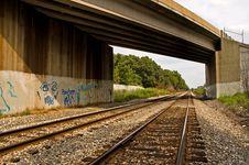 Free Bridge Over Railroad Tracks Stock Photo - 1086120