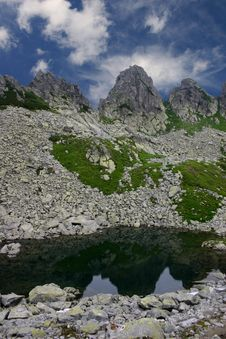 Free Peaks Reflections Royalty Free Stock Photography - 1086277