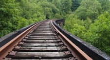 Free Railroad In The Woods Stock Photo - 1086640