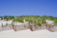 Free Dune Fence Zig Zag Royalty Free Stock Photos - 1087018