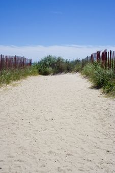 Free Sandy Path To The Beach Stock Photo - 1087150