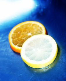 Free Lemons, Oranges, And Water Stock Photo - 1087250