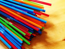 Free Straws On A Table Royalty Free Stock Photo - 1087565