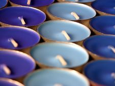 Free Blue Candles Royalty Free Stock Photo - 1088095