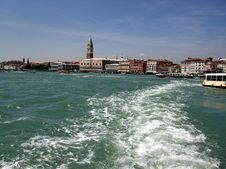 Free Leaving Venice With The Boat Royalty Free Stock Photos - 1088448